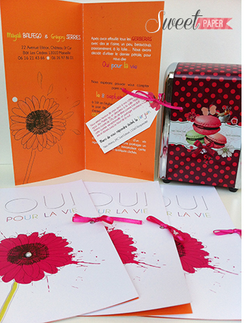 1-faire-part-mariage-gerbera-fuschia-orange